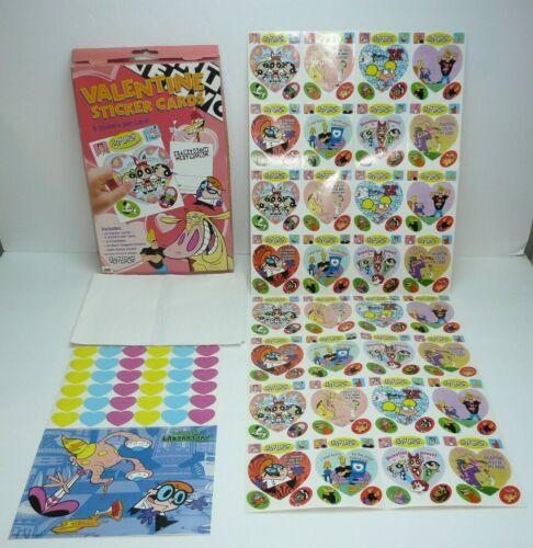 Mello Smello Cartoon Network Themed Valentines Day Sticker Cards Vtg Powerpuff