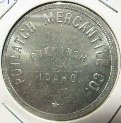 Vintage Potlach Mercantile Co. Potlatch, ID Anillo Restrike Token - Idaho #2