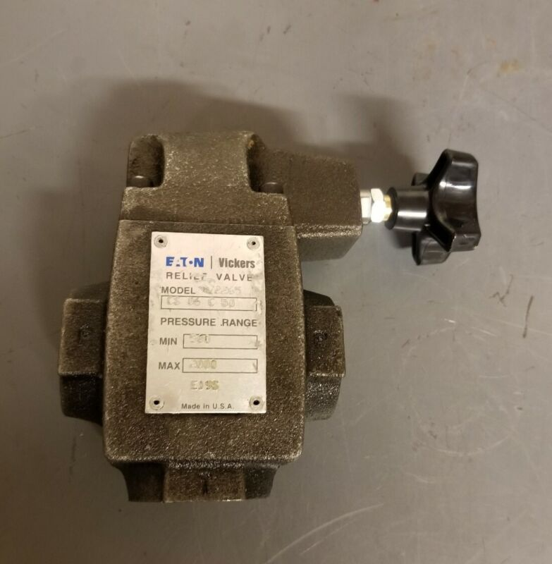 "Eaton Vickers Hydraulic Relief Valve 1-1/16"" port 500-2000psi 572265 CS 06 C 50"