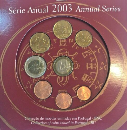 Portugal 2003 Complete Official Euro Proof Set 8 Coins COA
