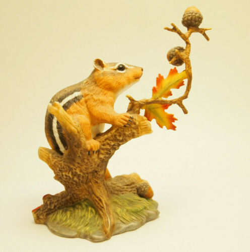 Vintage Lenox Autumn Adventure Eastern Chipmunk Porcelain Figurine 1991