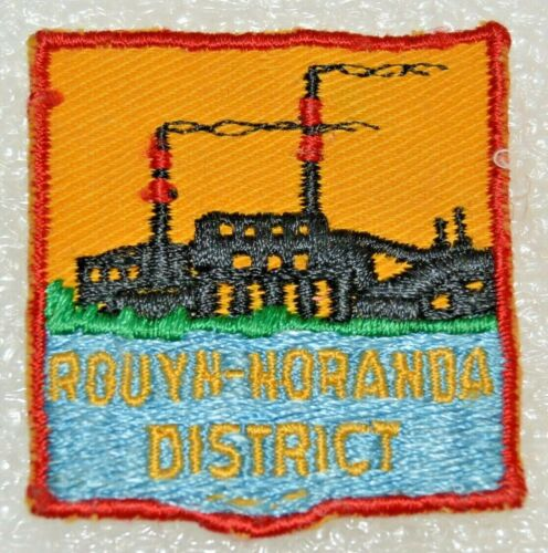 ROUYN NORANDA DISTRICT Swiss Cut Edge Boy Scout Uniform Badge Cdn. (QCR2B) USED