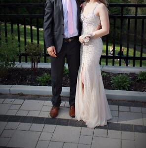 Champagne Prom Dress Size 4-6