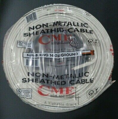 Romex 250 Roll 14-2 Awg Guage Nm-b Indoor Electrical Copper Wire Cable W Ground