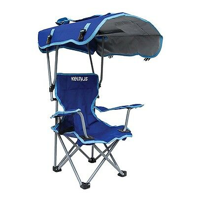 Kelsyus Kids Original Canopy Folding Backpack Lounge Chair, Blue | 80316