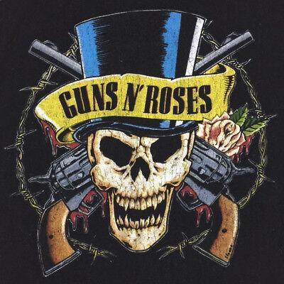 Guns N Roses T-Shirt Skull Logo Graphic Tour Concert Rock Slash Black Tee Sz XL