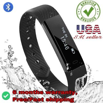 Heart Rate Monitor Smart Bracelet ID115 HR  Fitness Tracker Step Counter