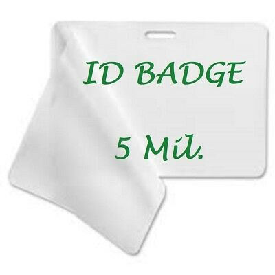 100 Id Badge 5 Mil Laminating Pouches Laminator Sheets With Slot 2.56 X 3.75