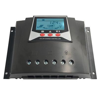 Solar Charge Controller 60A 12V 24V 36V 48V Auto Max 100V PV Input PWM Regulator ()