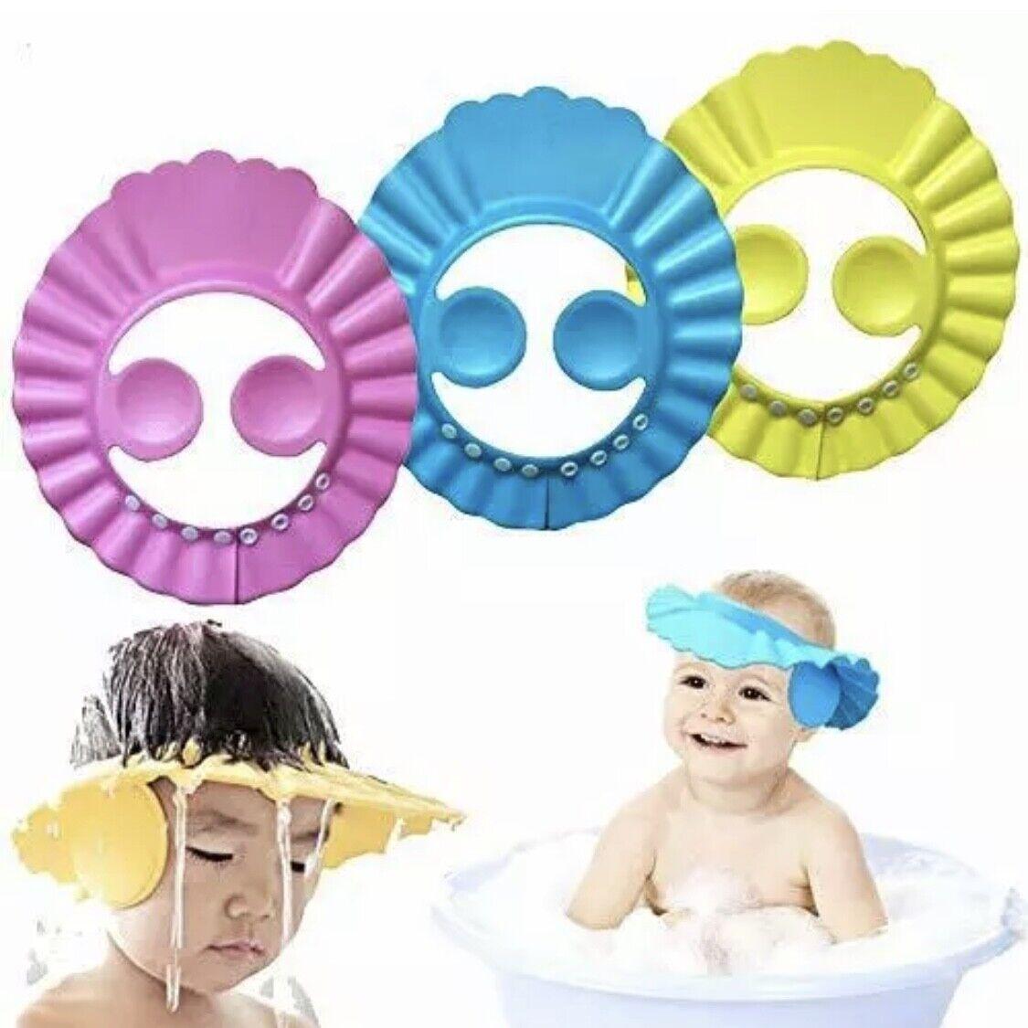 New Adjustable Kids Baby Shampoo Bath Bathing Shower Cap Hat