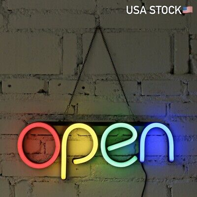 16 Open Neon Sign Led Light Tube Handmade Bar Club Store Business Window Decor