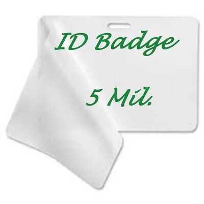 500 ID BADGE Laminating Pouches Laminator 5 Mil With Slot 2.56 X 3.75 Clear -
