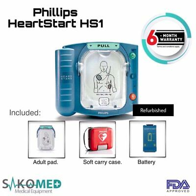 Philips Hs1 Aed Patient Ready New Battery And New Pads With Carry Case