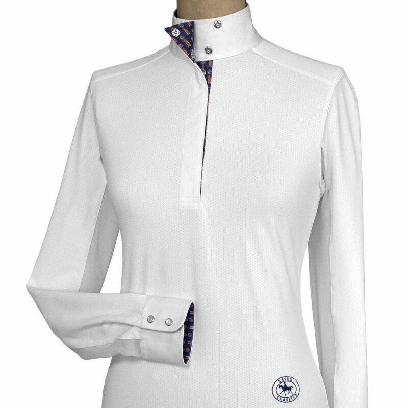 Essex Classics Talent Yarn Long Sleeve Show Shirt - Show Ribbons