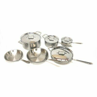 All-Clad Metalcrafters D5 Cookware Set 10 Piece, Brushed Stainless Steel ()