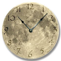 10.5 MOON Pattern Wall CLOCK - Astrology, Space, Home Decor - 7132_FTLLC