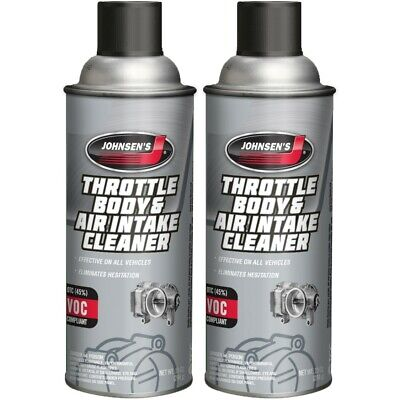 Throttle Body & Air Intake Cleaner fuel injected butterfly valve idle (2) 10oz