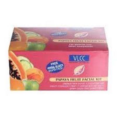 1 PACK VLCC PAPAYA FRUIT FACIAL KIT REDUCES WRINKLES LIGHTENS
