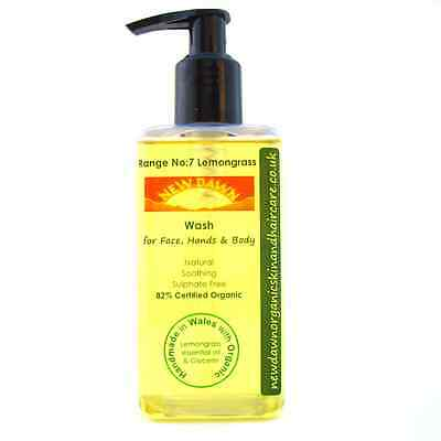Refreshing Hand Wash - LEMONGRASS FACE, HAND & BODY WASH ~ New Dawn Organic Aromatherapy Skin Care