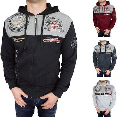 Slim Fit Herren-pullover (Herren Pulli Pullover Langarm Zipper Sweatshirt Kapuze Slim-Fit 2XL 3XL 4XL 5XL)