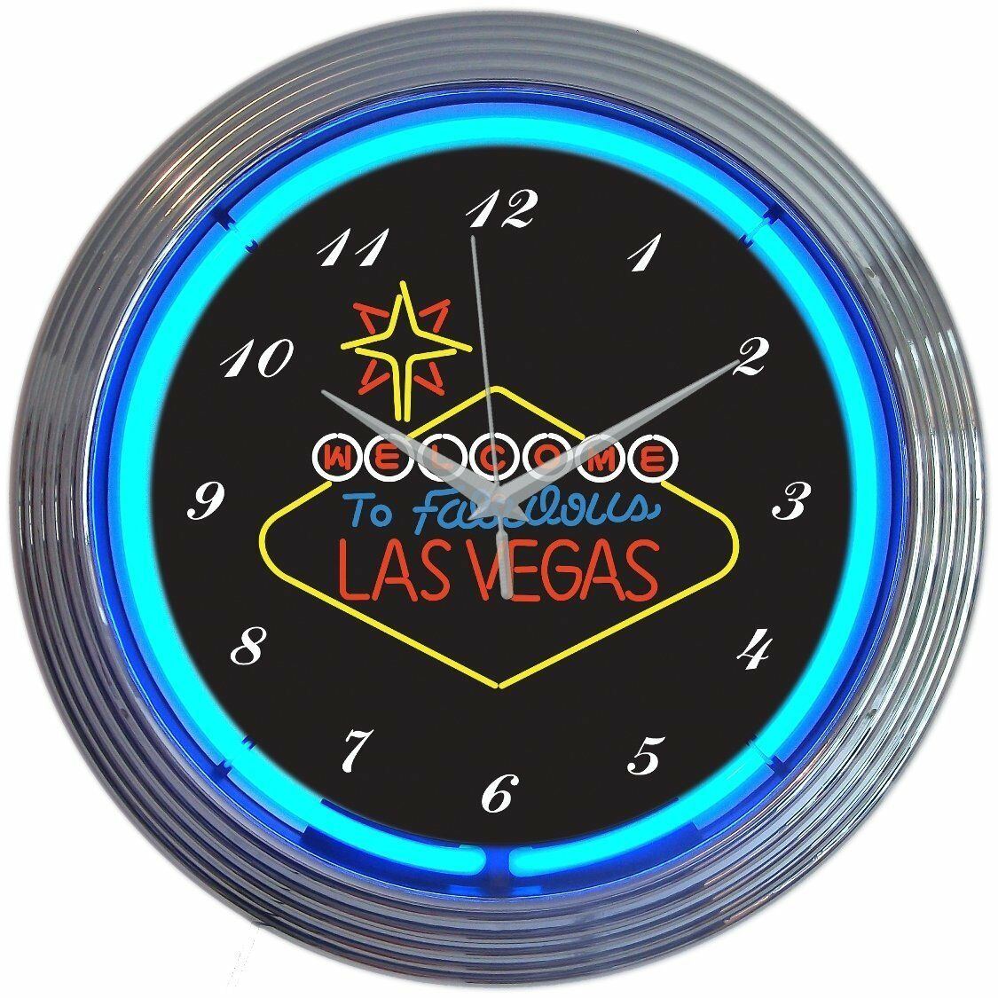 Détails Sur Néon Signe éclairé Visage Cuisine Horloge Murale Las Vegas Vintage Artwork 4 Jeu