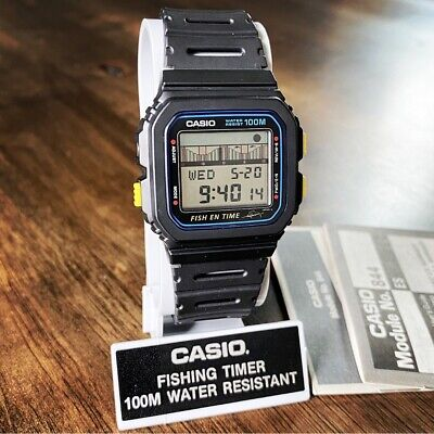 MINT Vintage NOS 1989 Casio FT-100W Fish En Time Watch Made in Japan Module 844