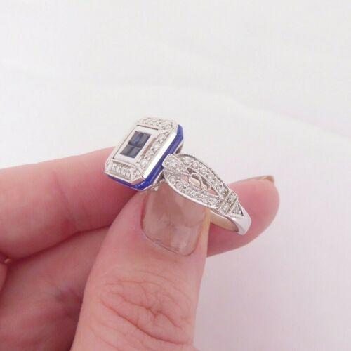 18ct gold diamond lapis lazuli sapphire cluster ring, designer CN amoro