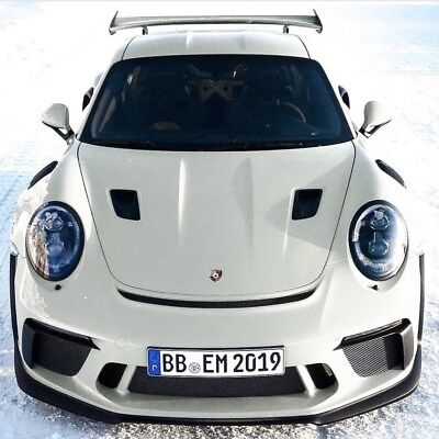 Porsche 991.2 GT3RS style hood, w/ air intake scoops, for 991 Turbo & Carrera