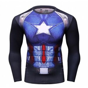 CAPTAIN AMERICA Compression long and short sleeve shirts SALE