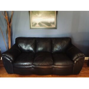 $375 Leather Couch, Love Seat and Ottoman — NEED TO SELL ASAP