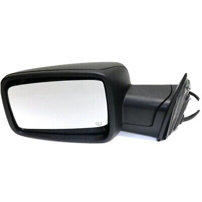 Power Mirror For 2013-2018 Ram 1500 Left Power Folding Heated Textured Black