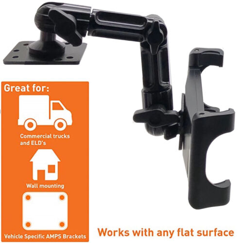 """ChargerCity Heavy Duty """"ELD"""" Hard Install Tablet Smartphone Aluminum Alloy Mount"""