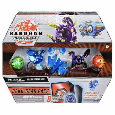 Bakugan Ultra Armored Alliance, Aquos Batrix Baku-Gear Pack 4-Pack with BakuGear