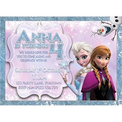 Frozen Theme Personalised Digital Invitation - Print At Home](Frozen Theme Invitation)