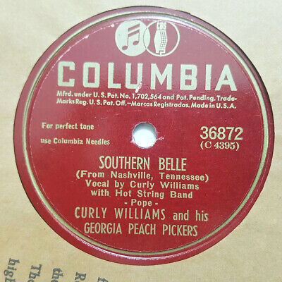 Belle Georgia Peach - CURLY WILLIAMS GEORGIA PEACH PICKERS Southern Belle/Jealous Lady COLUMBIA E+