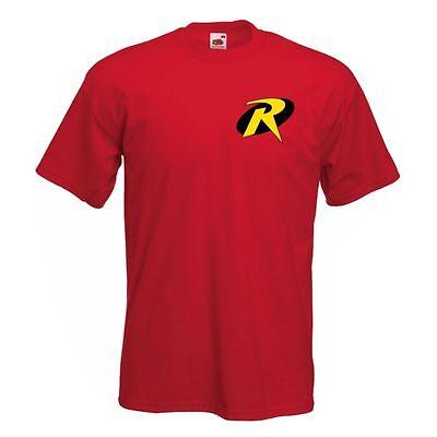 Robin (Batman's Sidekick) T shirt Logo Classic Comic Superhero Mens Childrens](Kids Robin Shirt)