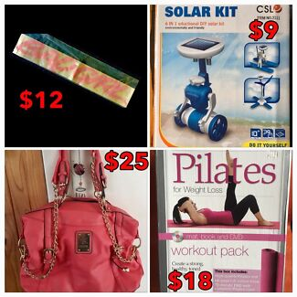 Car Decal, Pilates & DYI Solar Kit (bag sold)