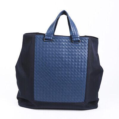 Bottega Veneta Intrecciato Leather Nylon Tote Bag