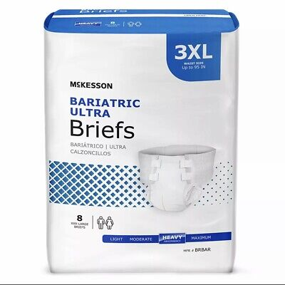 McKesson Ultra Plus Bariatric Disposable Briefs Diapers XXXL BRBAR Heavy 32 Ct