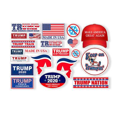 21 Trump Hard Hat Helmet Sticker Sheet USA POTUS 2020 Mini Pack Phone Cup Decal - Cowboy Hat Helmet
