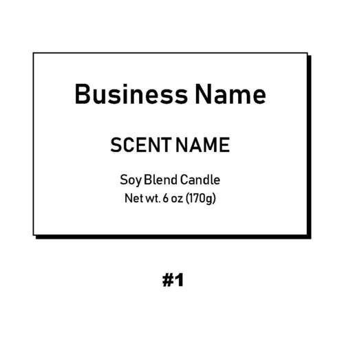 """20 Personalized Rectangle Candle Soap Labels 2""""x3"""""""