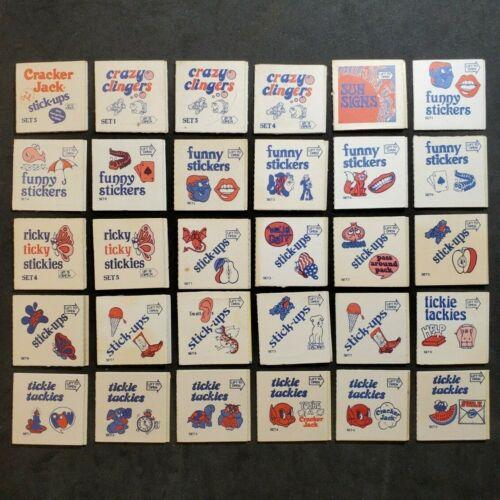 1970s Sticker Pack Series (30 diff.) VINTAGE CRACKER JACK PRIZES Z1368