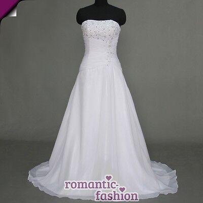 ♥Brautkleid, Hochzeitkleid in Weiß+Gr.34,36,38,40,42,44,46,48,50,52 od. 54+W074♥
