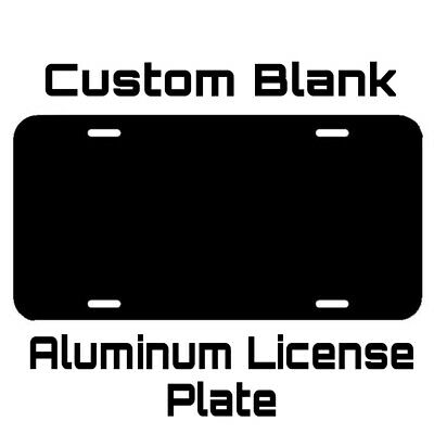 ALUMINUM LICENSE PLATE Custom Blank Gloss Black metal tag with protective sheet  Custom Aluminum License Plate