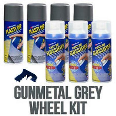 Performix Plasti Dip Gunmetal Grey Wheel Rim Kit Glossifier Spray 11oz Aerosol