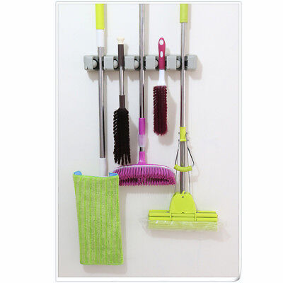 New Wall Mount Magic Mop and Broom Holder Hanger Cleaning Tool Organizer
