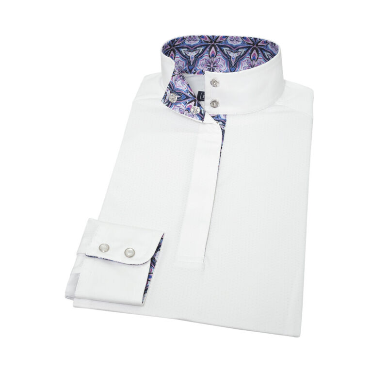 Essex Classics Talent Yarn Long Sleeve Straight Collar Show Shirt - Kaleidoscope