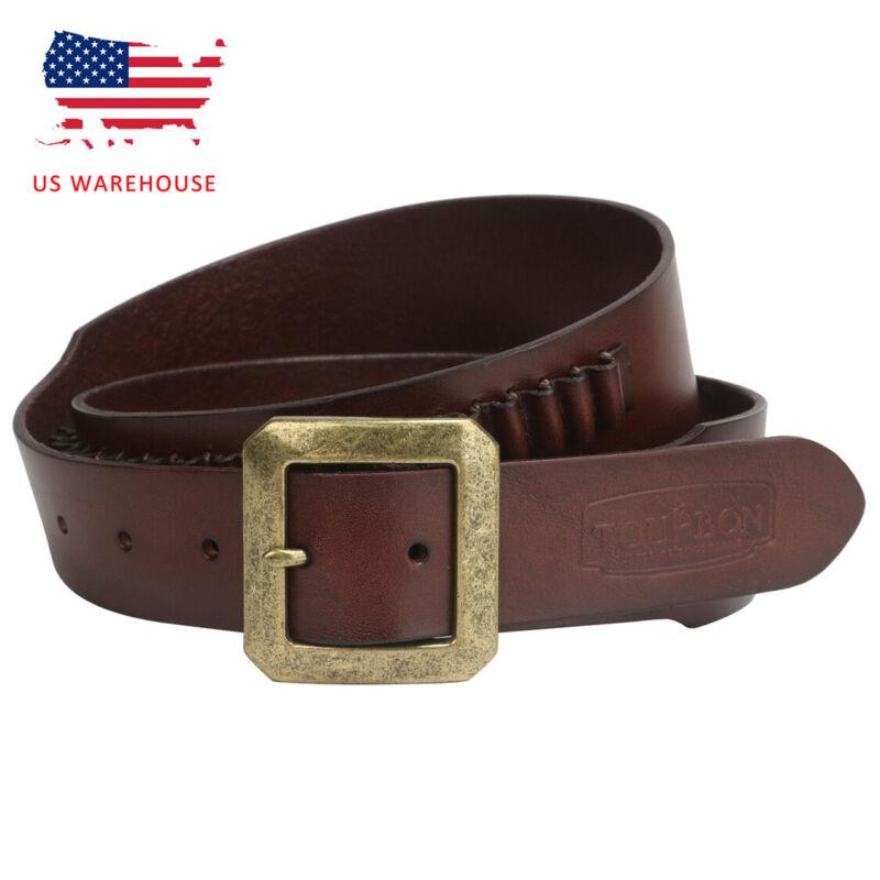 Tourbon Bandolier Ammo Belt Leather .22 Caliber Holster Carry Belt USA Warehouse