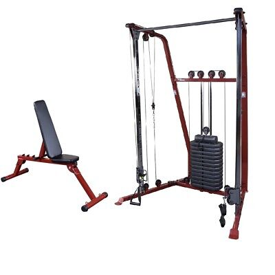Functional Trainer w/ Bench, 190 lb weight stack, Best Fitness BFFT10 Home