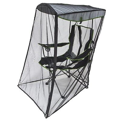 Kelsyus Original 50 UPF Canopy Shade Folding Camping Chair with Bug Net Guard